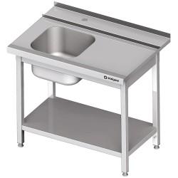 Stół załadowczy(P) 1-kom. z półką do zmywarki STALGAST 800x750x880 mm skręcany