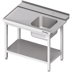 Stół załadowczy(L) 1-kom. z półką do zmywarki STALGAST 900x750x880 mm spawany