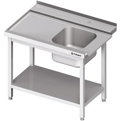 Stół załadowczy(L) 1-kom. z półką do zmywarki STALGAST 1400x750x880 mm skręcany
